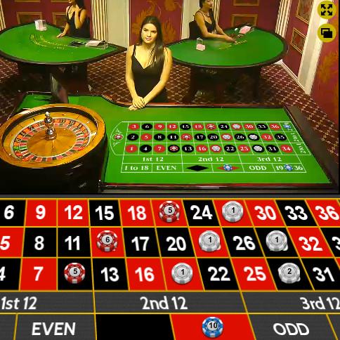 Exemple de table de roulette en ligne du logiciel Ezugi