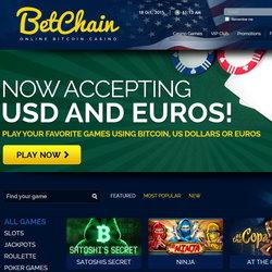 Betchain Casino accepte les euros et dollars