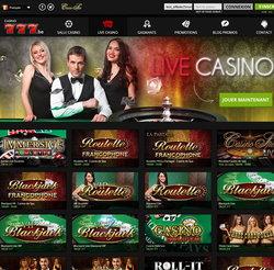 Casino777 top casino legal Belgique