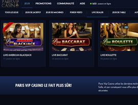 Paris VIP casino, le live parfait