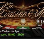 Roulette en lige du Casino Spa sur Casino777