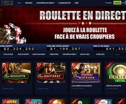 Roulette en live de Paris VIP Casino