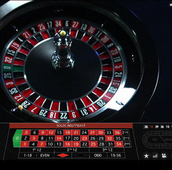Live roulette evolution gaming sur Casino Extra