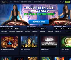 Jeux en live sur Paris VIP Casino