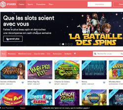 Stakes casino en ligne utilisant plusieurs logiciels