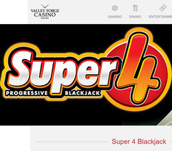 Super 4 Progressive Blackjack de Valley Forge Casino Resort