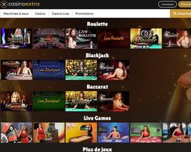 Casino Extra, leader des jeux avec croupiers en direct