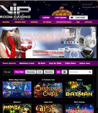 Bonus VIP Room casino sans condition de mise