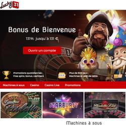 Lucky31 Casino dans le Top Casino avec live croupiers