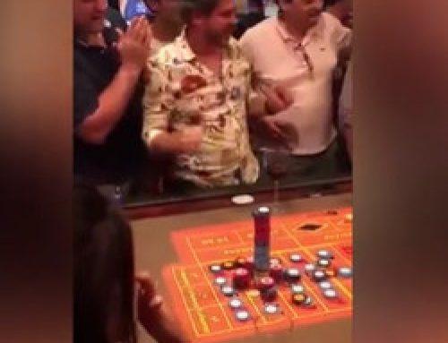 Jackpot avec une mise sur un numéro plein à la roulette