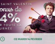 Bonus Cresus Casino Saint Valentin