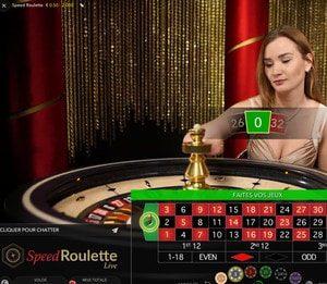 Speed Roulette, table de roulette en ligne Evolution Gaming