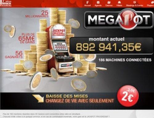 Jackpot Megapot tombe au Casino de la Grande-Motte