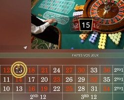 Roulette live du Casino Marriott Hotel Bucarest