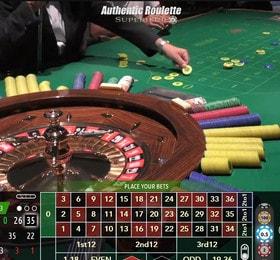 Authentic Roulette Superieur du Casino de la Vallee en Italie