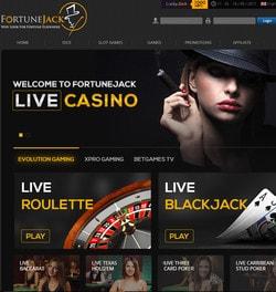 FortuneJack, live casino Bitcoin