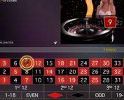 Roulette Immersive une des tables en live des 3 logiciels en direct d'Oscar Bianca Casin