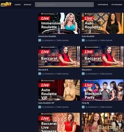 Mbit Casino intègre le jeux live Evolution Gaming