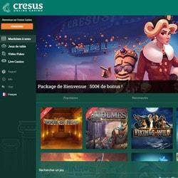 Cresus Casino et sa nouvelle charte graphique