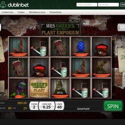 Machine à sous Mrs Green's Plant Emporium disponible sur Dublinbet