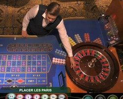 Live roulette Ezugi en direct du Royal Casino Riga