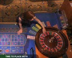 Table de roulette en ligne en direct du Royal Casino de Riga