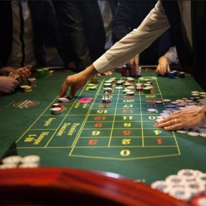Table de roulette du Casino Saint Vincent en italie