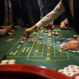Table de roulette du Casino Saint Vincent en italie
