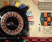 Roulette de casino mobile avec croupiers en direct
