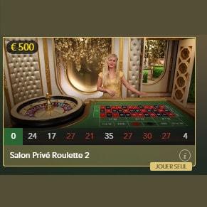 Roulette Salon Privé : tables de roulettes en live exclusives pour joueurs VIP