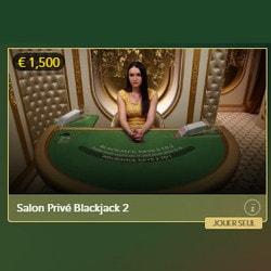 Lucky31 Casino propose 3 tables de blackjack VIP : Blackjack Salon Privé