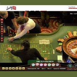 Roulette Ezugi retransmise en direct du Palace Casino de Bucarest