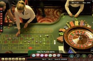 Roulette en live du Palace Casino de Bucarest