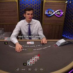 Live Infinite Blackjack d'Evolution Gaming