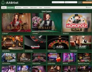 Dublinbet, leader des casinos en live avec croupiers en direct
