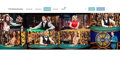 Logiciel et meilleurs casinos en live Evolution Gaming