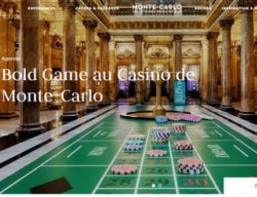 Tapis de roulette à taille humaine au Casino de Monte-Carlo à Monaco