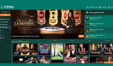 Cresus Casino est un des meilleurs casinos francais avec croupiers en direct
