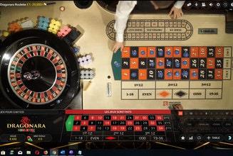 Vue aérienne de la roulette Dragonara en direct du casino Maltais