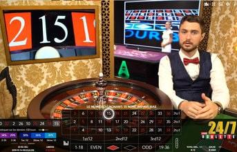 Live Arena Studio Roulette 24/7 pour jouer non stop