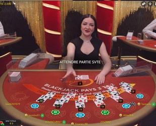 Live Speed Blackjack du logiciel Evolution Gaming