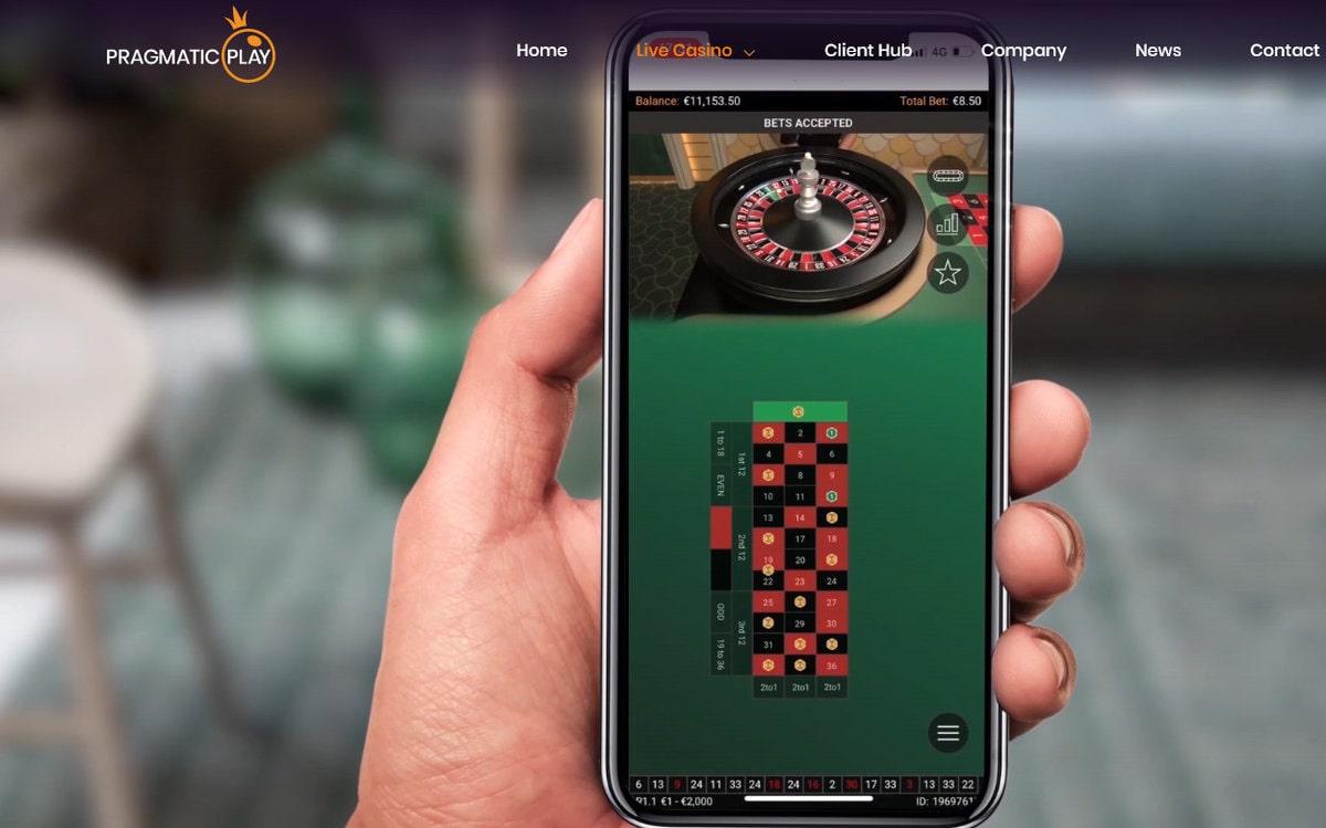 Jeux avec croupiers en direct de Pragmatic Play Live sur mobile