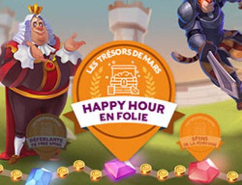 Des bonus happy hour en folie tous les jours de la semaine sur Cresus Casino
