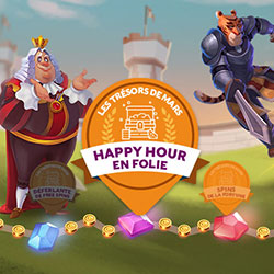 bonus happy hour sur Cresus Casino