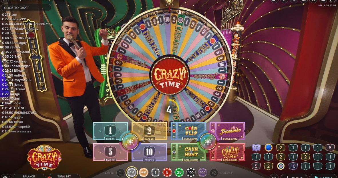 Crazy Time d'Evolution Gaming
