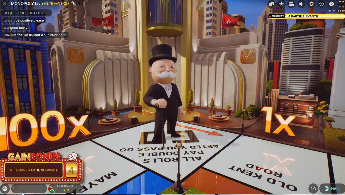 Monopoly live est un jeu de Monopoly en live avec croupiers en direct